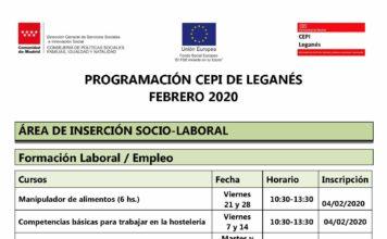 Programación del CEPI de Leganés para febrero