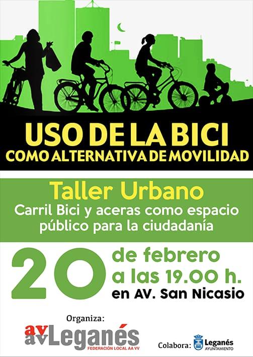 Taller urbano uso de la bici como alternativa de movilidad