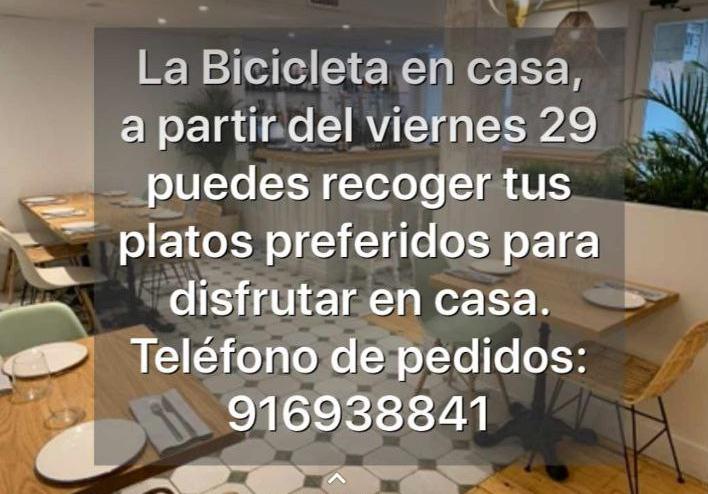 Restaurante La Bicicleta Comida exquisita