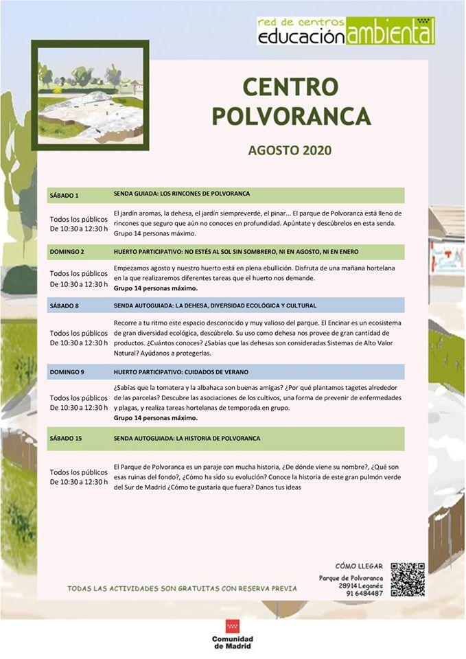 agosto 2020 en el CEA Polvoranca