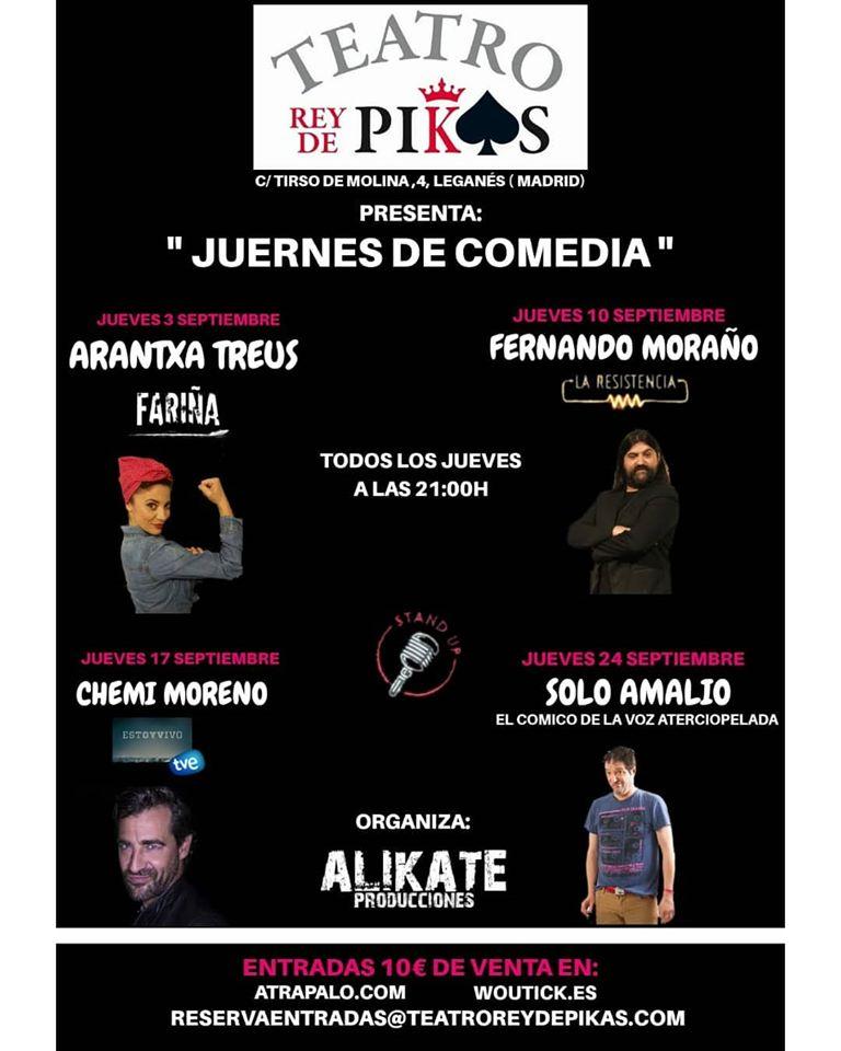 Juernes de Comedia al Teatro Rey de Pikas