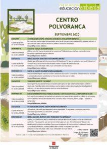 Programación en septiembre 2020 en el CEA Polvoranca y en Bosque Sur