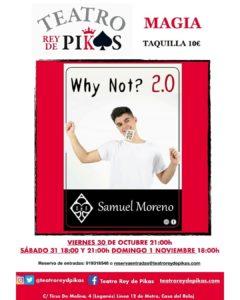 SAMUEL MORENO ESTARÁ EN EL TEATRO REY DE PIKAS EL 30, 31 DE OCTUBRE Y 1 DE NOVIEMBRE.