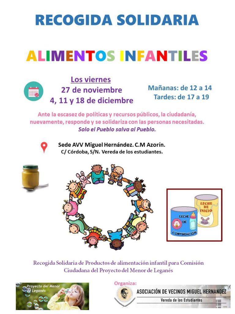 Recogida solidaria DE ALIMENTOS INFANTILES