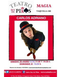 Magia familiar con Carlos Adriano en el Teatro Rey de Pikas