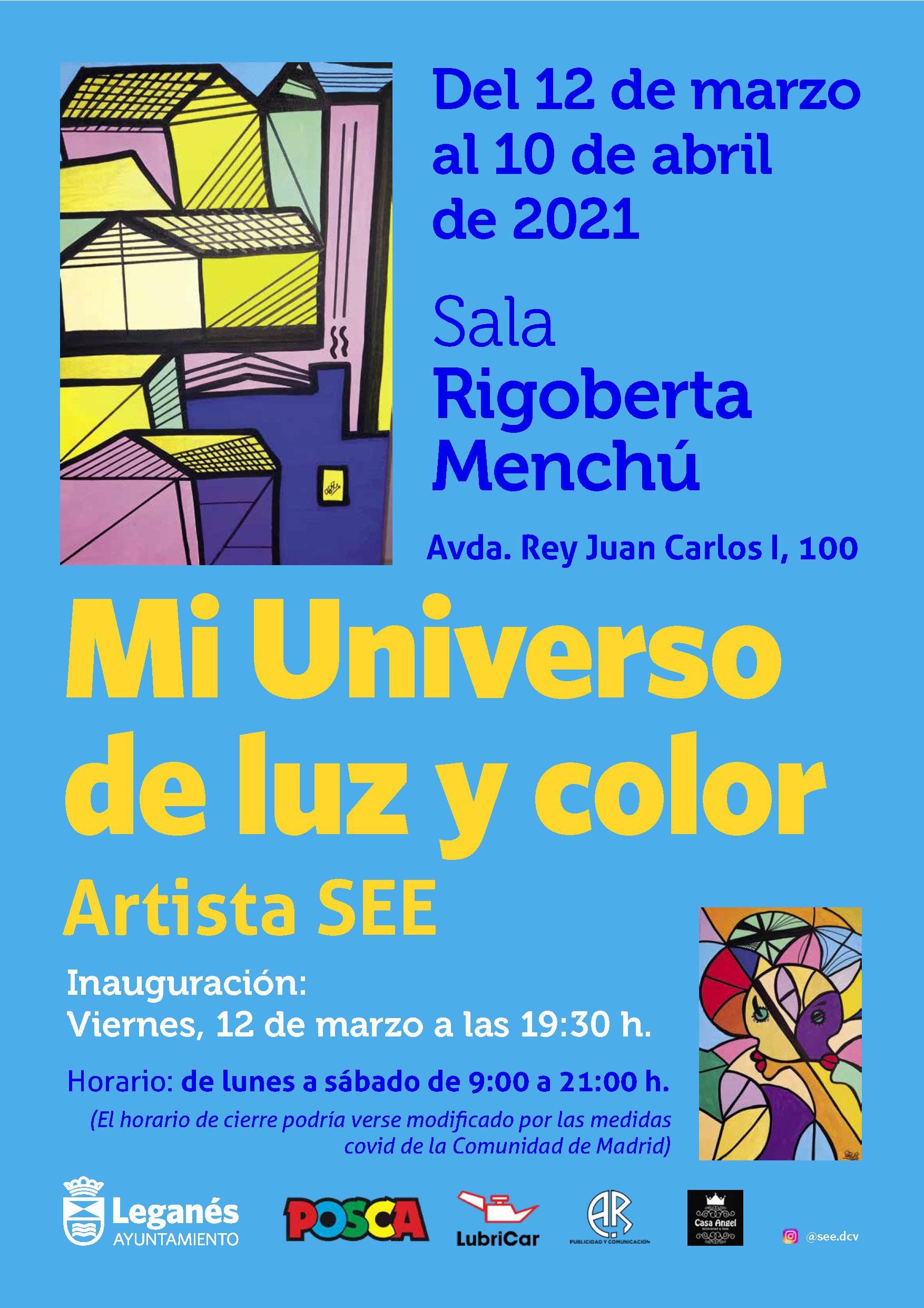 Exposición Mi Universo de luz y color