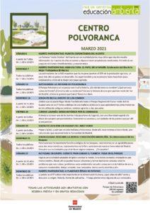 Programación en marzo 2021 en el CEA Polvoranca y Bosque Sur