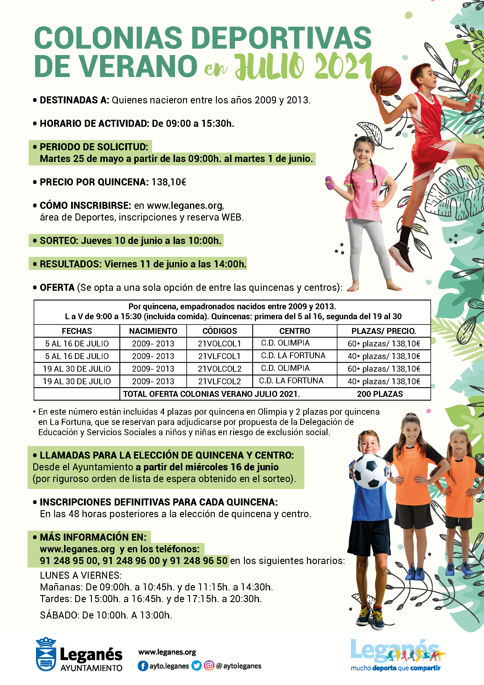 colonias-deportivas-de-verano - OCIOENLEGANES