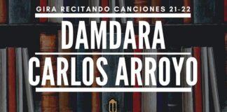 Damdara y Carlos Arroyo en la Biblioteca central