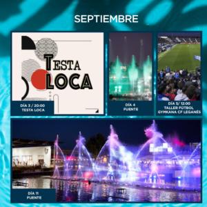 Calendario de actividades en ParqueSur mes de septiembre