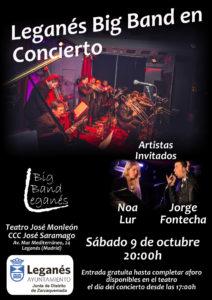 Concierto Leganés Big Band en el Teatro José Monleón