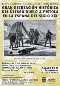 "ESPECTÁCULO DE RECREACIÓN HISTÓRICA. ""ÚLTIMO DUELO A PISTOLA EN LA ESPAÑA DEL SIGLO XIX"""