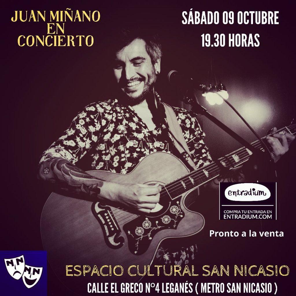Juan Miñano en Espacio Cultural San Nicasio