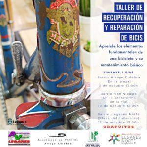 Talleres gratuitos de recuperación y reparación de bicis