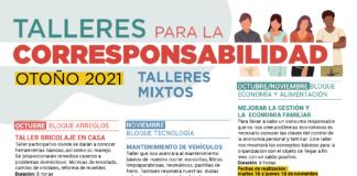 Talleres mixtos para la Corresponsabilidad con 9 cursos gratuitos durante el otoño