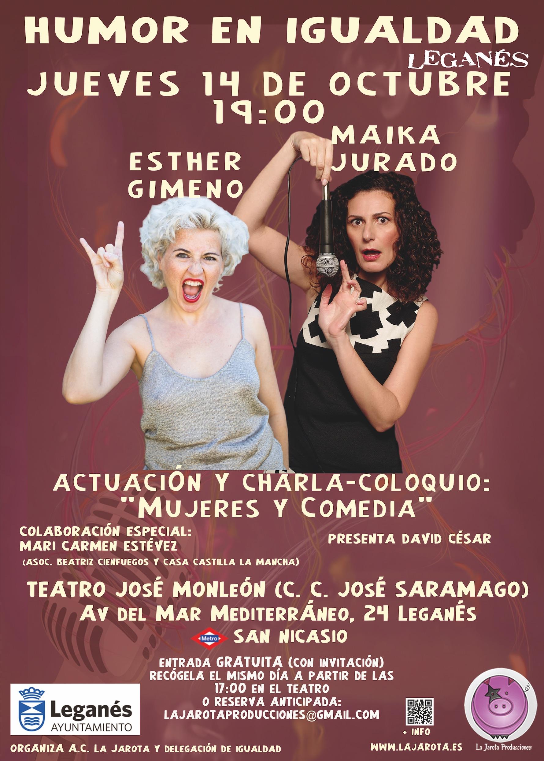 Humor en Igualdad en el Teatro José Monleón