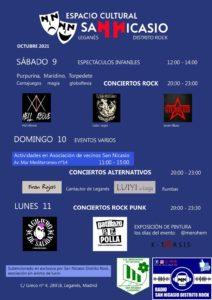 Programa actividades en las fiestas de San Nicasio del Espacio Cultural San Nicasio