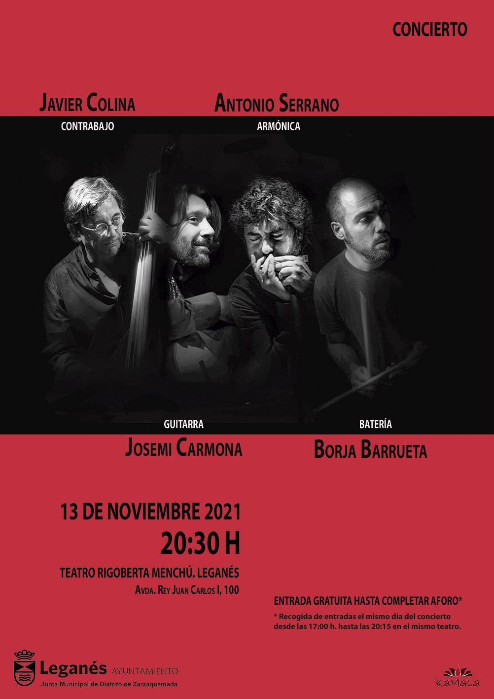 Concierto Colina, Carmona, Serrano, Barrueta Jazz Flamenco